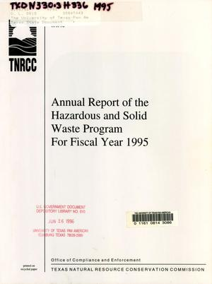 Primary view of object titled 'Texas Hazardous and Solid Waste Program Annual Report: 1995'.