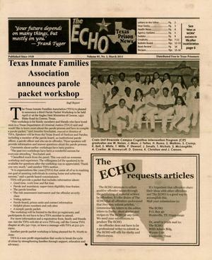 Primary view of object titled 'The ECHO, Volume 85, Number 2, March 2013'.
