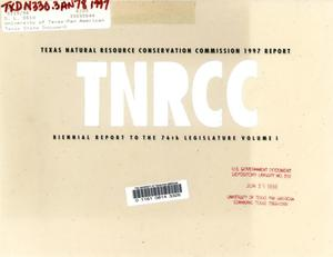 Primary view of object titled 'Biennial Report to the 77th Texas Legislature: Texas Natural Resource Conservation Commission, Volume 1'.