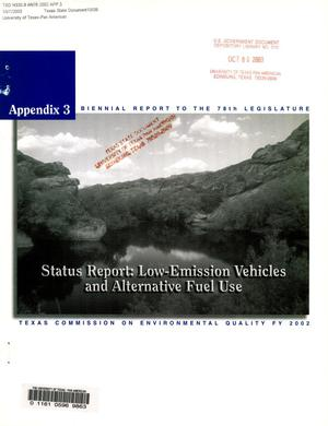 Primary view of object titled 'Biennial Report to the 78th Texas Legislature: Texas Commission on Environmental Quality, Appendix 3'.