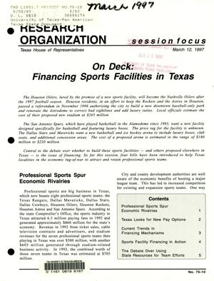 Primary view of object titled 'Focus Report, Volume 75, Number 10, March 1997'.