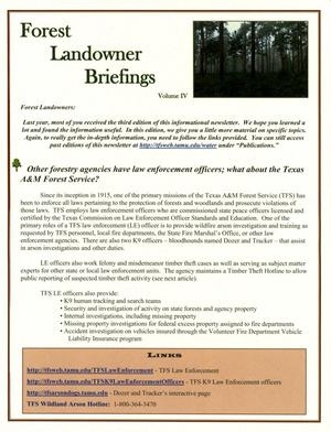 Primary view of object titled 'Forest Landowner Briefings, Volume 4'.