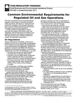 Primary view of object titled 'Common Environmental Requirements for Regulated Oil and Gas Operations'.