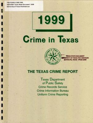 Primary view of object titled 'Crime in Texas: 1999'.