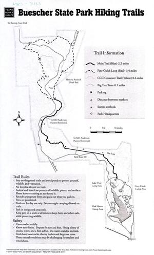 Primary view of object titled 'Buescher State Park Hiking Trails'.