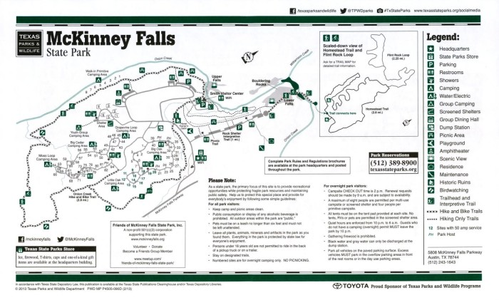 Mckinney Falls State Park Map McKinney Falls State Park   The Portal to Texas History