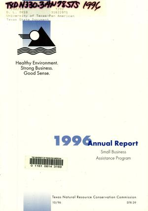 Primary view of object titled 'Texas Small Business Assistance Program Annual Report: 1996'.