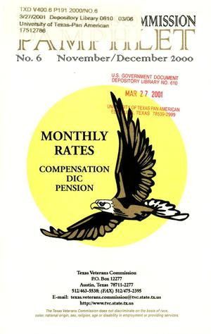 Primary view of Texas Veterans Commission Pamphlet, Number 6, November/December 2000