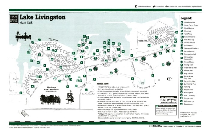 Lake Livingston State Park Map Lake Livingston: State Park   The Portal to Texas History