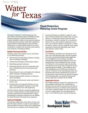 Primary view of object titled 'Flood Protection Planning Grant Program'.