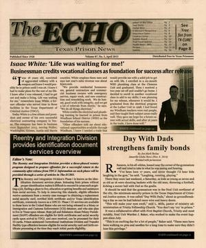 Primary view of object titled 'The ECHO, Volume 87, Number 3, April 2015'.