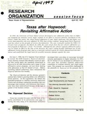 Primary view of object titled 'Focus Report, Volume 75, Number 14, April 1997'.