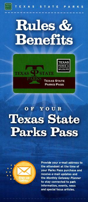 Primary view of object titled 'Rules and Benefits of Your Texas State Parks Pass'.