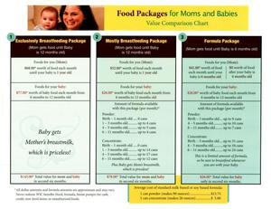 Primary view of object titled 'Food Packages for Moms and Babies'.
