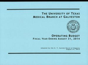 Primary view of object titled 'University of Texas Medical Branch at Galveston Operating Budget: 2014'.