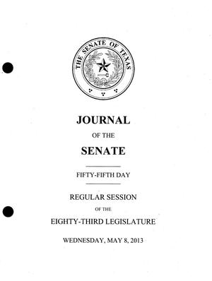 Primary view of object titled 'Journal of the Senate of Texas: 83rd Legislature, Regular Session, Wednesday, May 8, 2013'.