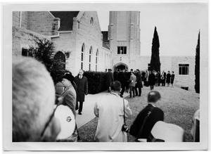 Primary view of object titled '[Congregation Outside of Bethany Lutheran Church]'.