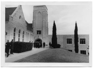 [People Exiting Bethany Lutheran Church]