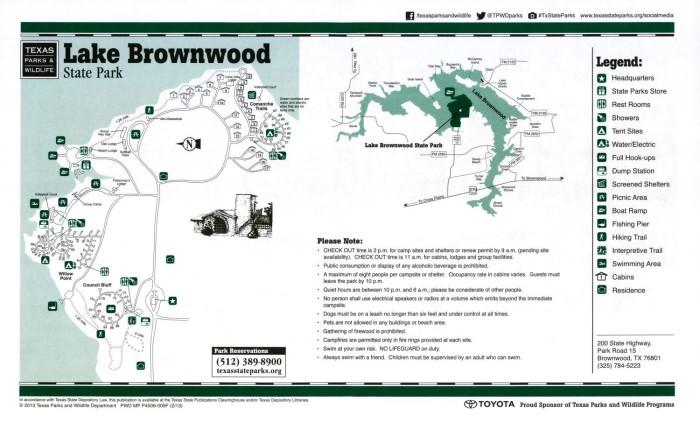 Lake Brownwood State Park - The Portal to Texas History on lake sumter landing map, lake seminole map, white rock lake map, lake nocona map, lake sumter florida map, lake pueblo map, lake nacogdoches map, lake texana map, braunig lake map, lake alice map, lake mineral wells map, lake o the pines map, lake arrowhead map, lake union map, lake ivy texas, lake bob sandlin map, lake houston map, seeley lake area map, indian lake state park map, chippewa lake map,