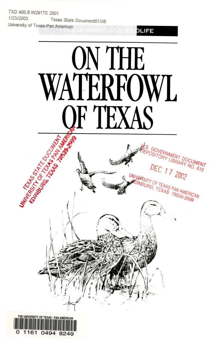 On the waterfowl of texas ducks geese and swans the portal to on the waterfowl of texas ducks geese and swans sciox Choice Image