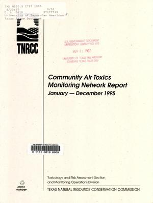Primary view of object titled 'Community Air Toxics Monitoring Network: January - December 1995'.
