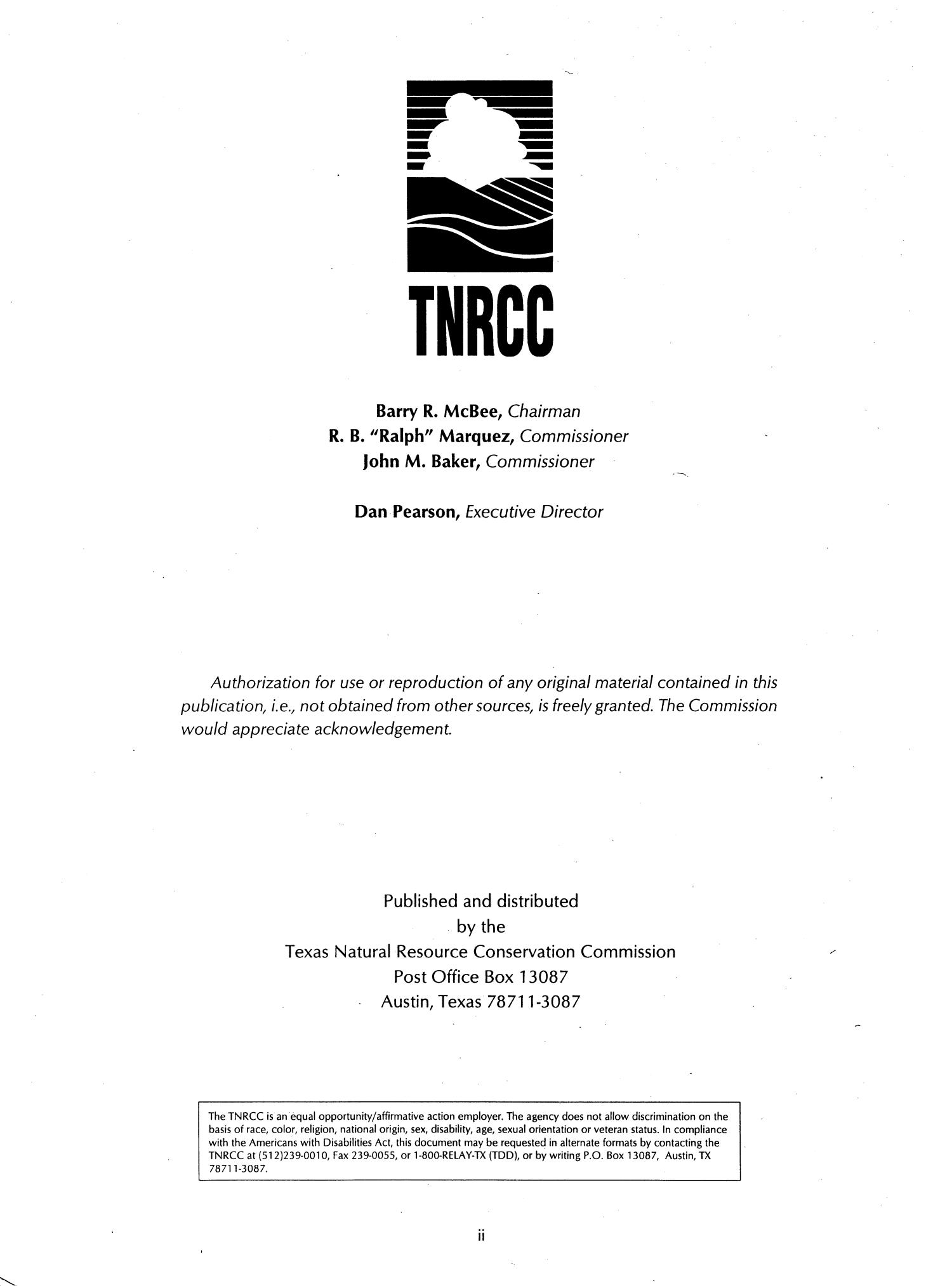 Community Air Toxics Monitoring Network: January - December 1995                                                                                                      II