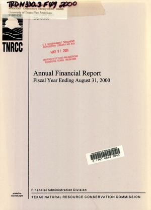 Primary view of object titled 'Texas Natural Resource Conservation Commission Annual Financial Report: 2000'.