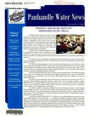 Primary view of object titled 'Panhandle Water News, January 2009'.