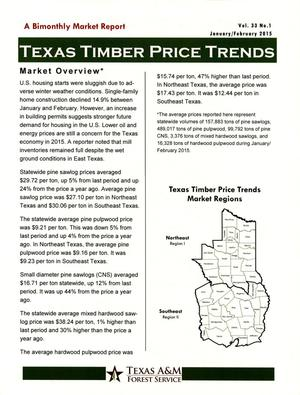 Primary view of object titled 'Texas Timber Price Trends, Volume 33, Number 1, January/February 2015'.