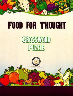 Primary view of object titled 'Food For Thought Crossword Puzzle'.