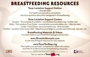 Primary view of object titled 'Breastfeeding Resources'.
