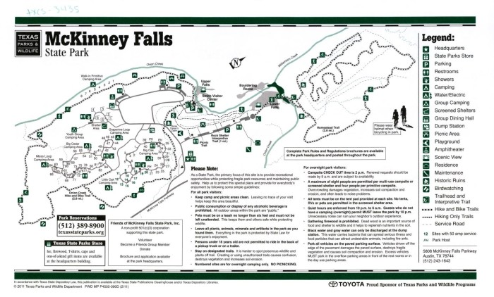 Mckinney Falls State Park Map McKinney Falls   The Portal to Texas History