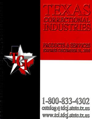 Primary view of object titled 'Texas Correctional Industries Products and Services Catalog,'.
