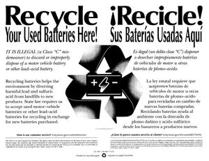 Primary view of object titled 'Recycle Your Used Batteries Here!'.
