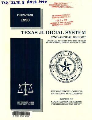 Primary view of object titled 'Texas Judicial System Annual Report: 1990'.