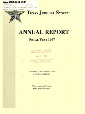 Primary view of object titled 'Texas Judicial System Annual Report: 1997'.