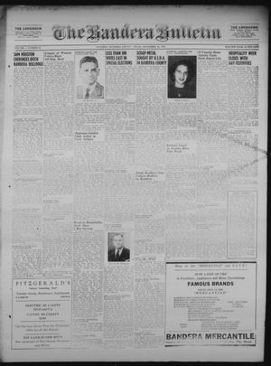 Primary view of object titled 'The Bandera Bulletin (Bandera, Tex.), Vol. 7, No. 20, Ed. 1 Friday, November 16, 1951'.