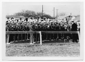 Primary view of object titled '[Fredericksburg High School Band Performing]'.