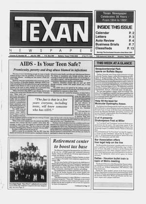 Primary view of object titled 'The Texan Newspaper (Bellaire and Houston, Tex.), Vol. 37, No. 30, Ed. 1 Wednesday, July 26, 1989'.