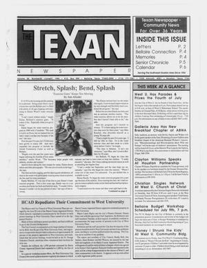 Primary view of object titled 'The Texan Newspaper (Bellaire and Houston, Tex.), Vol. 38, No. 25, Ed. 1 Wednesday, June 27, 1990'.