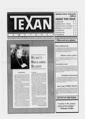 Primary view of object titled 'The Texan Newspaper (Houston, Tex.), Vol. 36, No. 32, Ed. 1 Wednesday, August 10, 1988'.