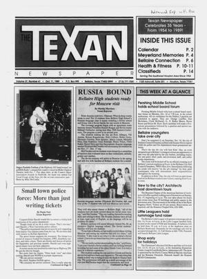 Primary view of object titled 'The Texan Newspaper (Bellaire and Houston, Tex.), Vol. 37, No. 41, Ed. 1 Wednesday, October 11, 1989'.