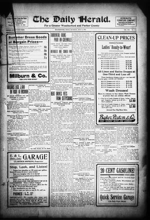 Primary view of object titled 'The Daily Herald. (Weatherford, Tex.), Vol. 14, No. 147, Ed. 1 Thursday, July 3, 1913'.