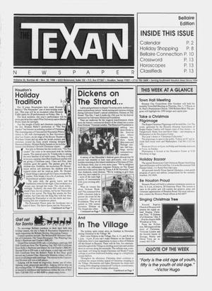 Primary view of object titled 'The Texan Newspaper (Houston, Tex.), Vol. 36, No. 48, Ed. 1 Wednesday, November 30, 1988'.