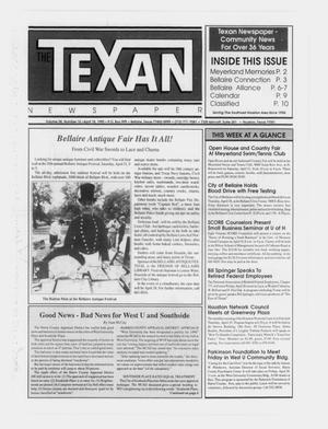 Primary view of object titled 'The Texan Newspaper (Bellaire and Houston, Tex.), Vol. 38, No. 16, Ed. 1 Wednesday, April 18, 1990'.