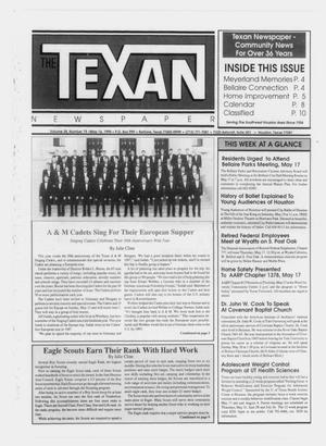 Primary view of object titled 'The Texan Newspaper (Bellaire and Houston, Tex.), Vol. 38, No. 19, Ed. 1 Wednesday, May 16, 1990'.