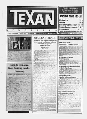 Primary view of object titled 'The Texan Newspaper (Bellaire and Houston, Tex.), Vol. 37, No. 40, Ed. 1 Wednesday, October 4, 1989'.