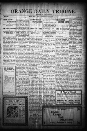 Primary view of object titled 'Orange Daily Tribune. (Orange, Tex.), Vol. 4, No. 20, Ed. 1 Friday, September 16, 1904'.