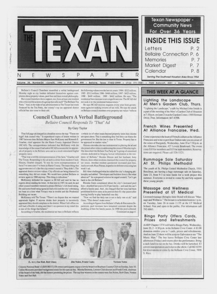 The Texan Newspaper (Bellaire and Houston, Tex ), Vol  38, No  24