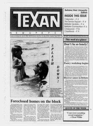Primary view of object titled 'The Texan Newspaper (Houston, Tex.), Vol. 36, No. 24, Ed. 1 Wednesday, June 15, 1988'.